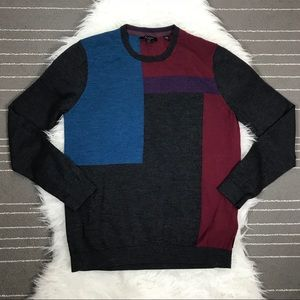 Ted Baker 100% merino wool colorblock sweater